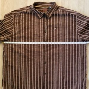 Enyce by Sean Combs Brown Striped Collar Shirt 4X